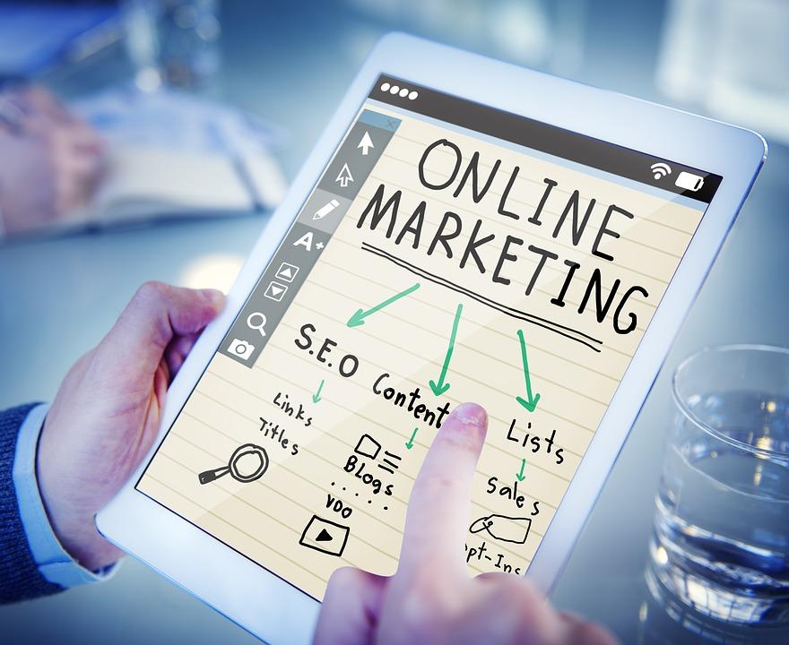 tablet med markedsføring